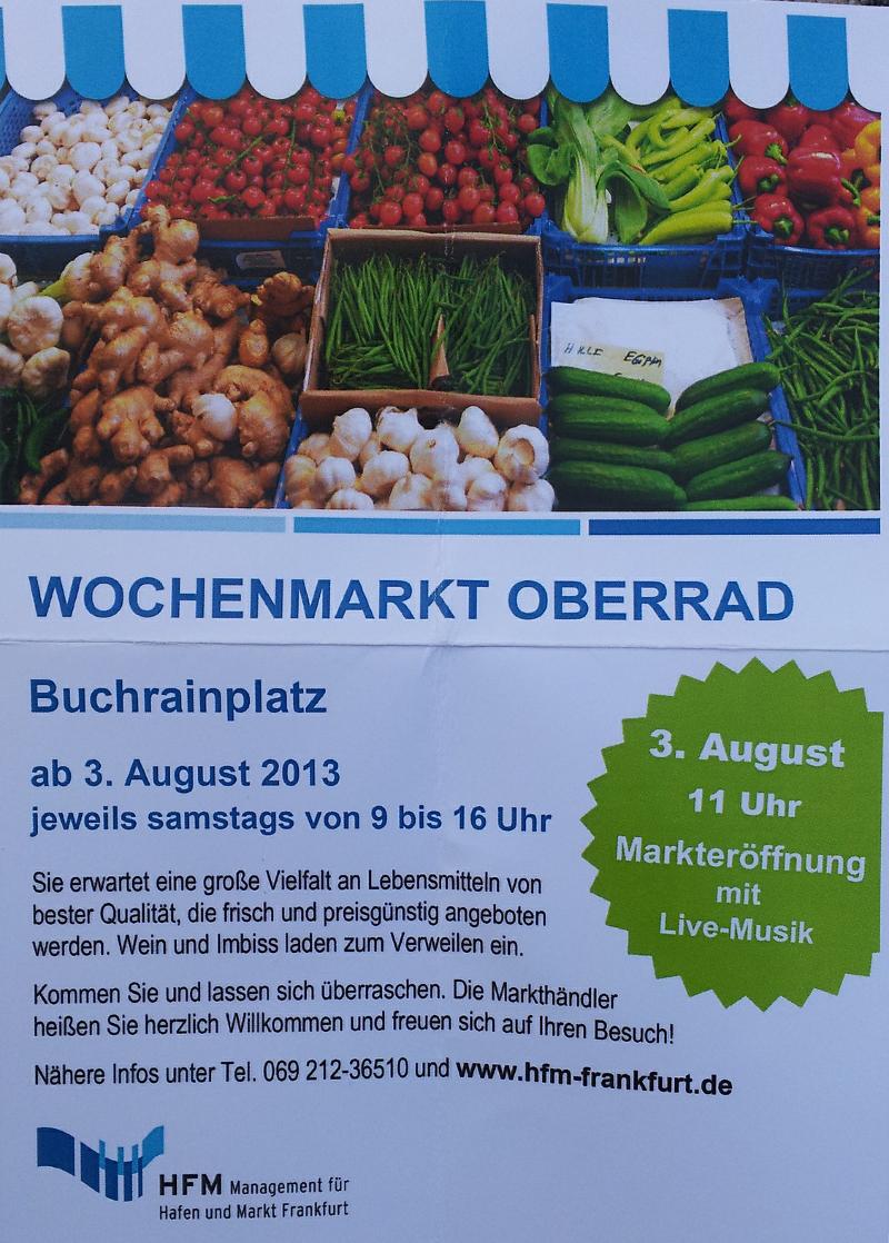 Flyer zur Markteröffnung am 03.08.2013