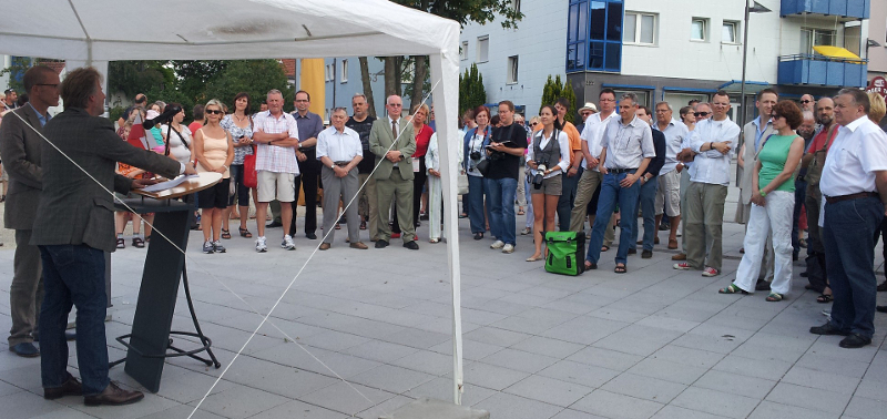 Rede zur Wiedereröffnung des Buchrtainplatzes