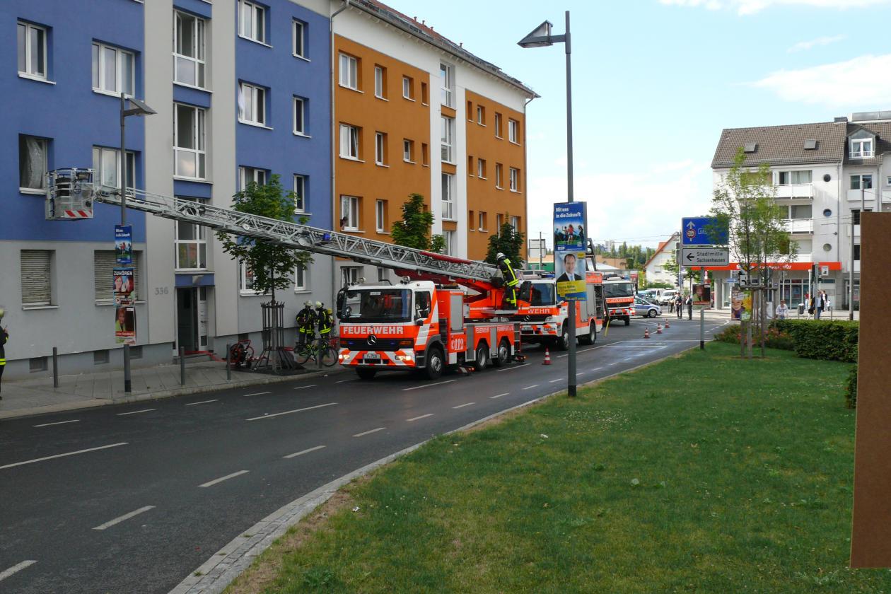 Feuerwehreinsatz am Buchrainplatz 19.08.2013 - 3
