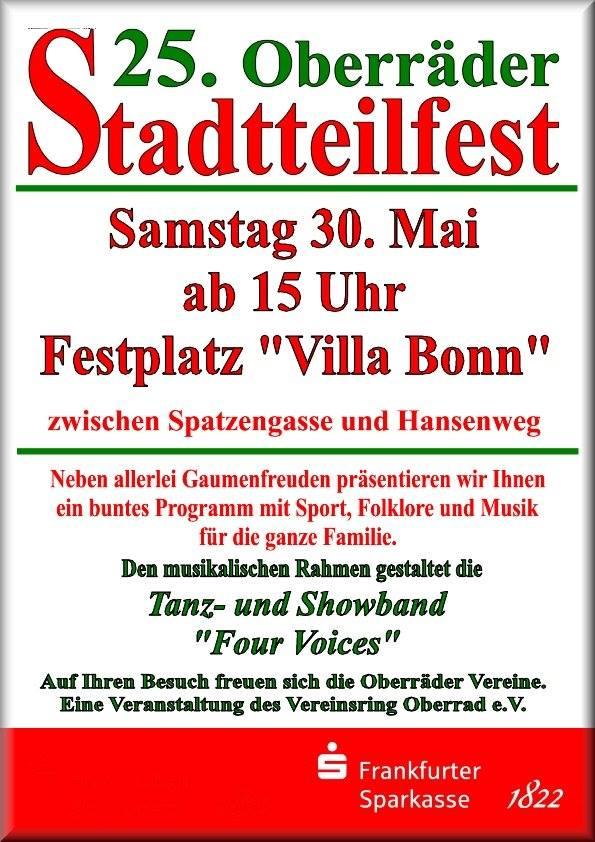 25. Oberräder Stadtteilfest