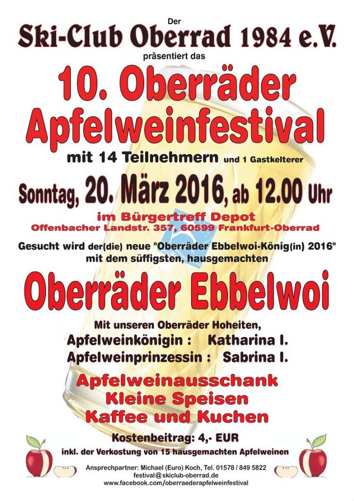 Apfelweinfestival 2016
