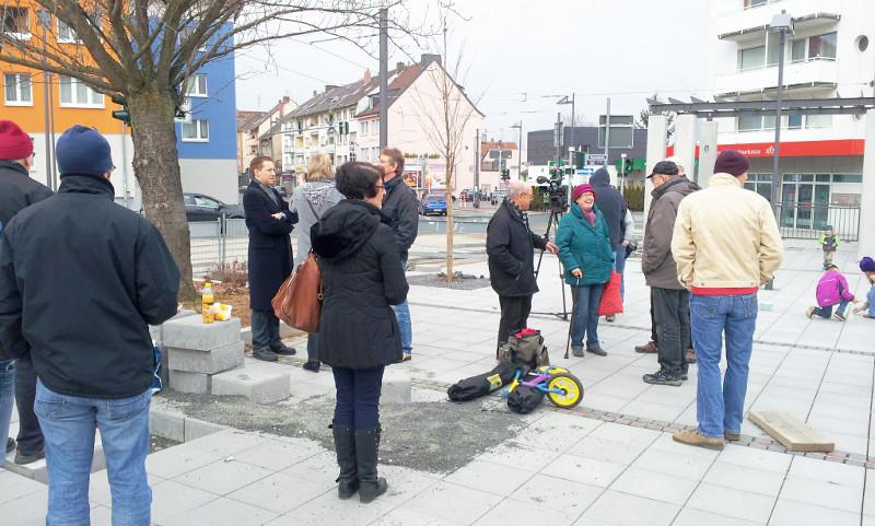 Buchrainplatz Flashmob