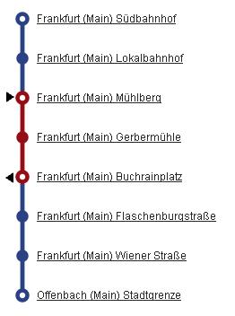 Schinenersatzverkehr nach Oberrad