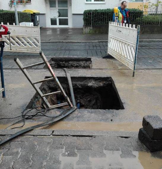 Wasserrohrbruch Offenbacher