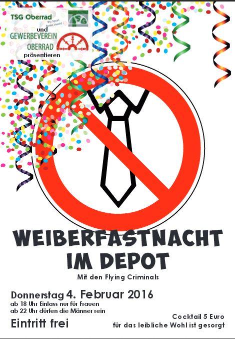 Weiberfastnacht im Depot 2016
