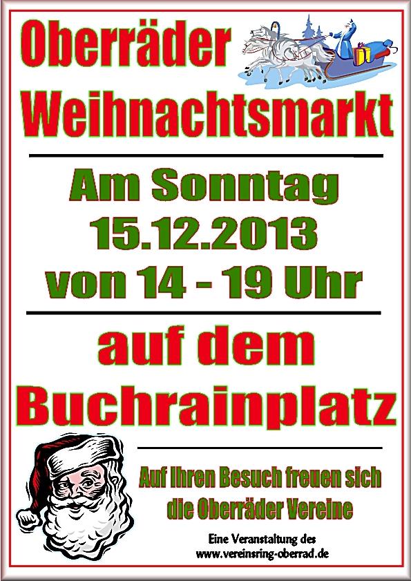 Oberräder Weihnachtsmarkt 2013 auf dem Buchrainplatz